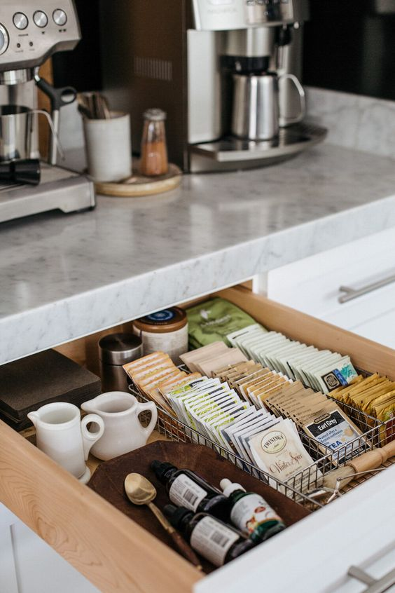 Assortment of High-end Tea Bags and Coffees