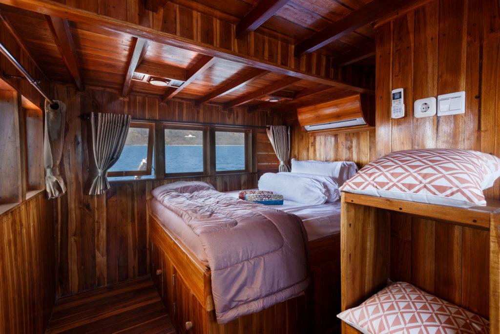 Type of Komodo liveaboard - cabin